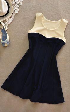 Sleeveless high waist dress