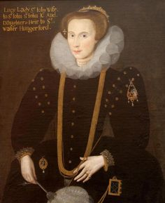 1590s - Lucy Hungerford, Lady St John. Unknown Artist.