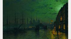 John Atkinson Grimshaw, Princes Dock, Hull, 1887
