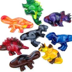 Cutest dinosaur crayons by ScribblerCrayons on etsy
