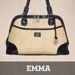 Emma faux leather shoulder bag
