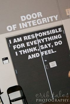 Door of integrity... LOVE IT!!!