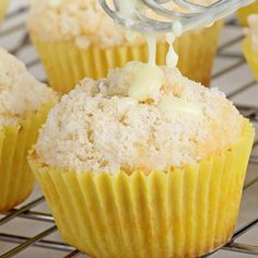 Lemon Lovers...you should try this lemon streusel muffin recipe.. White Chocolate Lemon Streusel Muffins Recipe from Grandmothers Kitchen.