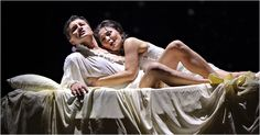 romeo & juliet at the met - quite beautiful - tho the aria sung in the bed that was hanging from the rafters was lost on me as i feared them falling off at any moment as the bed whirled around....weird interpretation.