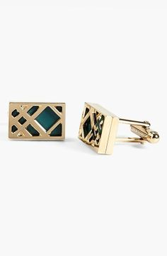 Burberry Check Cuff Links