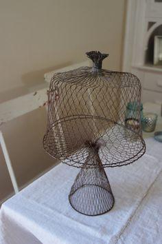 mesh wire cake stand love