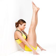 "7 waist slimming exercises... Including wall holds to reduce the ""pouch"" over your lower abs."