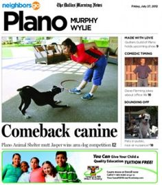 "07/27 Pets and Their People: From shelter dog to champion ""mutt,"" Jasper gets an extreme makeover."