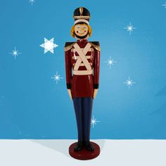 """Tin Toy Soldier 66""""H-Toy Soldier, This Christmas Tin Soldier is great...What a splash he will make in front of your home... $349.00  Tin Soldier is made of durable, chip resistant fiberglass construction. Suitable for commercial or residential use indoors or outdoors."""