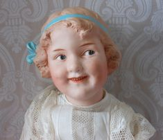 "Large Gebruder Heubach German Bisque Character Doll ""Coquette"""