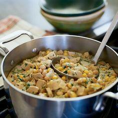 White Turkey and Corn Stew
