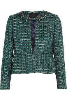 J.Crew Crystal-embellished tweed jacket | NET-A-PORTER