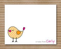 Bird Note Cards / Blank Cards / Personalized