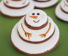 Cute Stacked Snowman Cookie