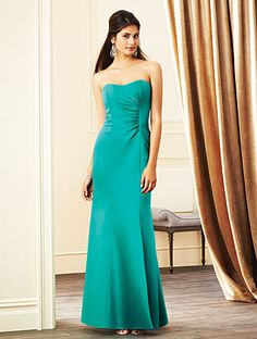 Alfred Angelo Bridesmaid Style 7269L in Jade