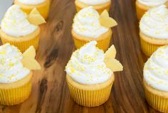 Beehive Cupcakes-Honey Kissed Yellow Cupcakes with Meringue Icing