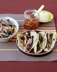 Portobello and Zucchini Tacos - Martha Stewart Recipes