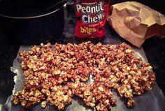Peanut Chew Popcorn - easy and oh so tasty.