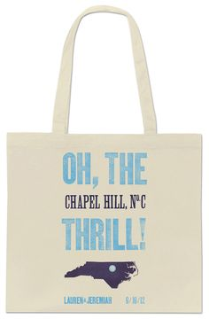Southern Hospitality/Chapel Hill weekend wedding tote   free download to take to your screenprinter!