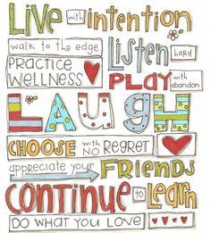 Words of wisdom . . . . . .