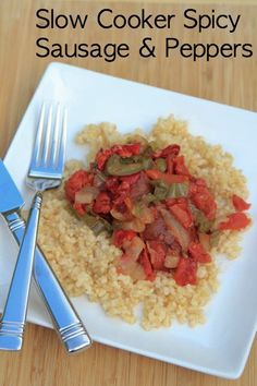 Slow Cooker Sausage and Peppers Recipe | 5DollarDinners.com