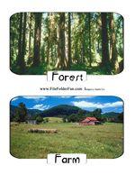 Sort animals by habitats file folder game free