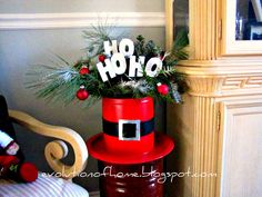The Evolution of Home: Christmas In A Can Christmas Arrangement