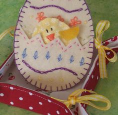 Spring Chick and Easter Egg Craft