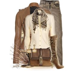 Brown and Cream Fall Outfit