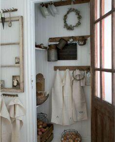 coins, closets, country style kitchen decor, countri style, aprons, farmhouse, wreath, beauty, farmhous pantri