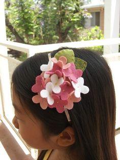 hydrangea headband.  so cute.