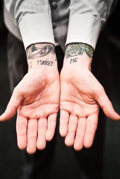 marry me tattoo