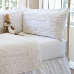 Ruffle+White+Crib+Bumper+Set+[2301WRUFF-BMP]+-+$264.00+:+The+Painted+Cottage,+Vintage+Painted+Furniture