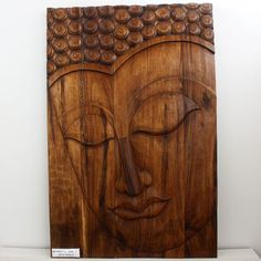 #BuddhaArt  Oversize 50 x 72 Hand Carved Buddha Serene wall decor