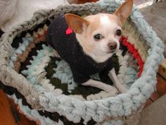 pet bed from old wool sweaters