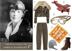 Amelia Earhart #Halloween #costume  ||  My Favorite Color is Shiny, by ginny branch, via Flickr