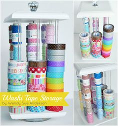Washi Tape Storage Idea: Ribbon Carousel