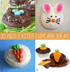 easter cupcake ideas, kids easter cupcake ideas, chocolate cupcakes, bunny cupcakes