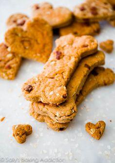 Homemade Peanut Butter Bacon Dog Treats.