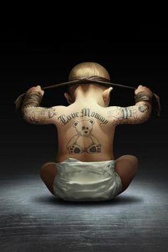 Tattooed Baby :) LOL!