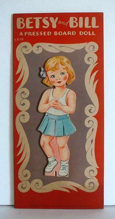 1940's Paper Doll Book Lowe BETSY and BILL