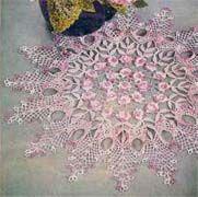 Rose Ruffled Centerpiece free crochet pattern