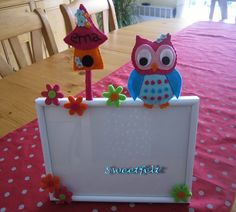 Sweet owl photoframe!