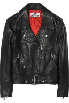 Mape leather biker jacket by: Acne