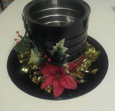 Snowman Hat Centerpiece. $15.00, via Etsy.