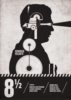 """:: """"8 1/2"""" (1963) dir. Federico Fellini ::"""