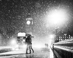 A kiss under the snow.