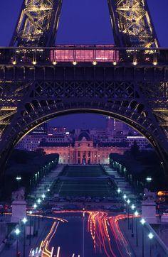 The #EiffelTower base on a beautiful #Paris night.