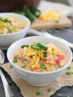 #Recipe / Creamy Chicken Popper Chili