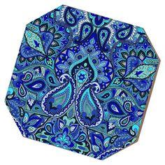 Paisley Blue Coaster